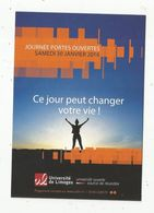 Cp , école , Journées Portesouvertes , 2016, UNIVERSITE DE LIMOGES , Verso : Programme - Schools