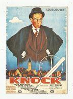 Cp , Cinéma , Affiche , Film ,  KNOCK , Louis JOUVET, Cp105 ,n° 1734 , Ed. Delta - Manifesti Su Carta