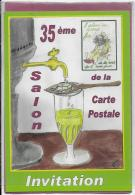 25.- MONTBELIARD 35e Salon De La Carte Postale  ( L' ABSINTHE ) Jacques Migot - Bourses & Salons De Collections