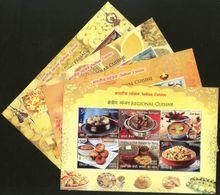 India 2017 Indian Cuisine Regional Festival Foods Meals Set Of 4 M/s MNH - Food
