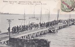 CPA BISSAU - Ponte De Caes - Desembarque De Forças. Guerra De 1908 - Guinea-Bissau