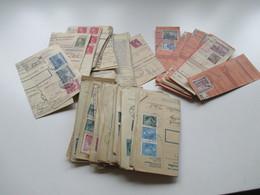 Böhmen Und Mähren Paketkarten / Postanweisung Abschnitte 147 Stück! Schöne Frankaturen! Randstücke! Fundgrube! Perfins - Briefmarken