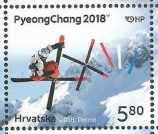 HR 2018-1302 OLY PJONGCHANG , HRVATSKA CROATIA, 1 X 1v, MNH - Kroatien