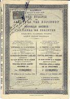 VOIR HISTORIQUE 1907 SOCIETE NOUVELLE CANAL DE CORINTHE GRECE B.E.VOIR SCANS - Transports