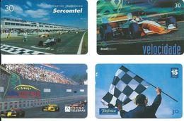 4 Télécartes Brésil Voiture Course Automobile Formule 1  (D 391) - Brésil