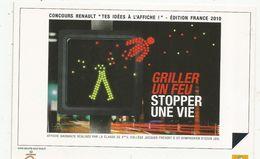 Cp , Automobile , Publicité RENAULT , Griller Un Feu , Stopper Une Vie , Vierge - Cartes Postales