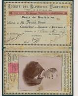 698 - Carte De Sociétaire - Société Des Alpinistes Dauphinois - Grenoble Année 1897 - Transportation Tickets