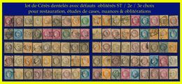 LOT DE CÉRÈS DENTELÉS - OBLITÉRÉS ST À 2e / 3e CHOIX - POUR NUANCES, RESTAURATION ET OBLITÉRATIONS - 1871-1875 Ceres