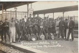 CPA Serqueux Poste Militaire Grève  Cheminots - Militaria