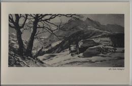 Carlo Pellegrini - Der Berghof - Künstlerkarten