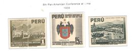 Perù PO 1938 8 Pan Am.Conf.Lima + Scott.385/387+Nuovi  See Scans On Scott.Pagee - Perú