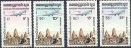 KAMPUCHEA Poste Aérienne 32 à 35 (o) Temple D'Angkor-Vat [cote 12,40 €] - Kampuchea