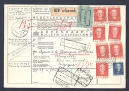 Bulletin D'expédition De 1952 - Periode 1949-1980 (Juliana)