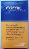 SNCF SERVICE NUIT TRAIN CORAIL - KIT DE CONFORT SOUS BLISTER - 2 SCANS - Eisenbahnverkehr