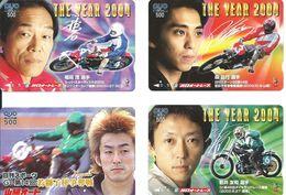 4 Cartes Prépayées  Japon Moto Compétition  (D 395) - Motos