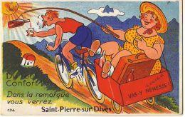Du Tout Confort !!! Dans La Remorquevous Verrez SAINT-PIERRE-SUR-DIVES (Carte à Système) - France