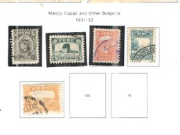 Perù PO 1931/32 Capac E +  Scott.292/297+used See Scan On Scott.Page - Pérou