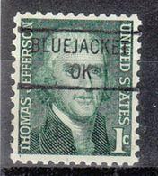 USA Precancel Vorausentwertung Preo, Locals Oklahoma, Bluejacket 841 - Préoblitérés