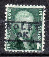 USA Precancel Vorausentwertung Preo, Locals Oklahoma, Boley 871 - Vereinigte Staaten