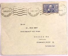 1936 Jean Jaurès 1.50 Bleu Seul Sur Lettre De Paris Vers Berlin - Poststempel (Briefe)