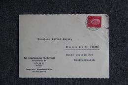 Enveloppe Publicitaire - KOLN , Hartmann SCHMIDT, Bismarckstarbe 53 - 1900 – 1949