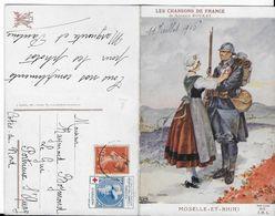 """1916 - CROIX-ROUGE - CARTE De PROPAGANDE ANTI ALLEMANDE """"LES CHANSONS De FRANCE"""" ASSOCIATION DES DAMES FRANCAISES - Marcophilie (Lettres)"""