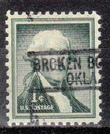 USA Precancel Vorausentwertung Preo, Locals Oklahoma, Broken Bow 812 - Vereinigte Staaten