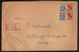 ZOF - TÜBINGEN - ZONE FRANCAISE / 1946 LETTRE RECOMMANDEE POUR L ALLEMAGNE (ref 7735) - Französische Zone