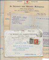 1918 - CROIX-ROUGE - SECOURS AUX BLESSES MILITAIRES - LETTRES Du CHEF DES CONVOIS MILITAIRES => SP 118 - Marcophilie (Lettres)