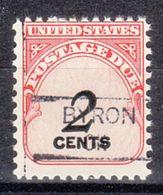 USA Precancel Vorausentwertung Preo, Locals Oklahoma, Byron 835,5 - Vereinigte Staaten