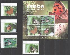 W921 2015 SAMOA FLORA & FAUNA BUTTERFLIES !!! NEW EXPENSIVE 1KB+1SET MNH - Papillons