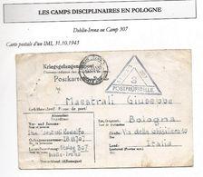 POLOGNE Formulaire De Prisonnier Italien Au Camp Disciplinaire De Deblin Irena 1943 IMI -voir Doc - Rare! - 1939-44: 2ème Guerre Mondiale