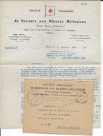 1918 - CROIX-ROUGE - SECOURS AUX BLESSES MILITAIRES - LETTRE Du CHEF DES CONVOIS MILITAIRES => SP 118 - Marcophilie (Lettres)