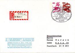 """BRD Privatganzsachenumschlag PU105 B1/001 """"125 Jahre BM In Deutschland"""", SSt 14.11.75 BONN 1 - Buste Private - Usati"""