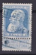 N° 76 Petit Aminci OBLITERATION CHEMIN DE FER LIEGE - LUIK - 1905 Grosse Barbe