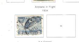 Perù PA 1934 Plane In Flight Scott.C/4+Used See Scan On Scott.Page - Peru