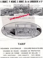 75-PARIS-BEAUMONT-SAINT ETIENNE- LE QUESNE-RARE LETTRE H. BRUNET- P. MEUNIE- CH. DE LA ROUSSIERE-TISSUS- RUE UZES-1932 - Automobile