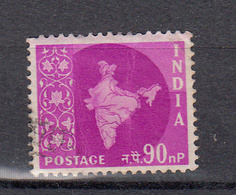 India 1957 Mi Nr  272 Kaart Van India,  Waarde 90 N - 1950-59 Republiek