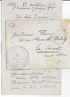 1917 - CROIX-ROUGE - OEUVRE DES TRAINS DE BLESSES - ENVELOPPE FM Du WAGON CANTINE N°5 à VITRY - PRESSE FRANCAISE - Marcophilie (Lettres)