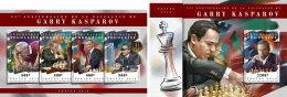 TOGO 2018 MNH** Garry Kasparov Chess Schach Echecs M/S+S/S - IMPERFORATED - DH1808 - Schach