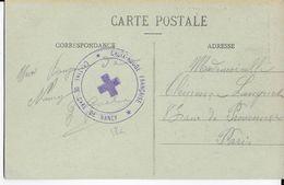 1914/18 - CROIX-ROUGE - CENTRE De La GARE De NANCY (MEURTHE ET MOSELLE) - CARTE FM => PARIS - Marcophilie (Lettres)