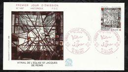 CROIX ROUGE FRANCAISE . VIEIRA DA SILVA . 22 NOVEMBRE 1986 . REIMS . - FDC