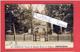 ARCACHON VILLA ASPHODELE PENSION DE FAMILLE CARTE PHOTO EN TRES BON ETAT - Arcachon
