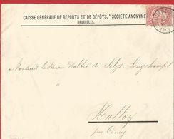 "6Mm-996: N° 58-tab: Met  "" C.B. = CAISSE GENERALE....BRUXELLES(R.CHANCELLERIE)  ...1902  > Hallay (Ciney) - Lochung"