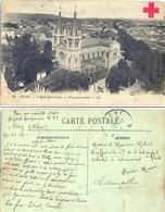 GUERRE 14-18 CPA  VICHY ALLIER Avec CROIX ROUGE Sur VERSO - Manuscrit HOPITAL TEMPORAIRE N° 42 Le 29-12-14 - Marcophilie (Lettres)