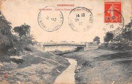 ¤¤  -   CAMBODGE   -  PNOM-PENH  -  Canal De Verneville Et Pont Sur Le Quai -  ¤¤ - Cambodge
