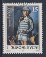 "Jugoslavija Yugoslavia 1991 Mi 2507 YT 2370 Sc 2115 ** ""Little Dubravka"" Painting By Jovan Bijelic (1884-1964) / Gemälde - 1945-1992 Socialist Federal Republic Of Yugoslavia"