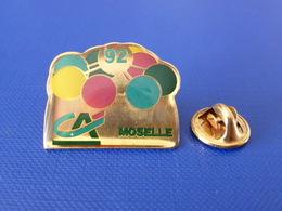 Pin's Banque Crédit Agricole - CA - Moselle - 1992 92 Ballons ? (HB55) - Banques