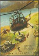 Saunders Roe Skeeter - De Havilland Engines - Vintage Ad Gallery Postcard - Advertising