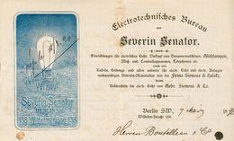 Allemagne - Berlin - Correspondance Recto/Verso Du 7 Mars 1890 - Electrotechnifches Bureau Von Severin Senator. - Germany